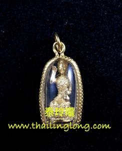 M10 屈辦拍-- 龍婆什雁 2557 招財女神 小立尊 (黃銅版)