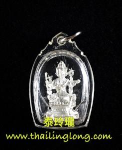 K19 屈史林勇-- 龍婆key 2549 四面神 小立尊 (黃銅鍍金版/黃銅鍍銀版)
