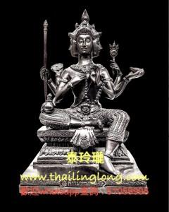 AH07 屈史林勇-- 龍婆KEY 2547 四面神 (黃銅上黑漆版) (大模) [供奉型]