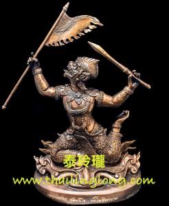 AH02 屈告史打南-- 大法會開光 2561 哈努曼(猴神) 黃銅版 [供奉型]