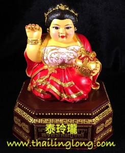 AH06 屈醒嬌鋪鐵也-- 古巴亞里亞察 2559 招財女神 (中模上色版) [供奉型]