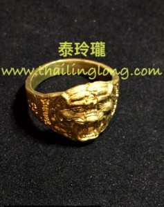 AC04 屈辦拍-- 龍婆什雁 2556 老虎頭 黃銅 (戒指)