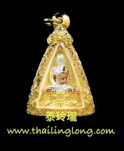 I03 屈宏訂-- 龍婆Gee 2561 女皇佛 後寶石符印 (三色鍍金銀版) 限量2000