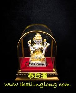 AH27 屈辦拍-- 龍婆什雁 2556 四面神 (小供奉黃銅鍍金版) [供奉型]