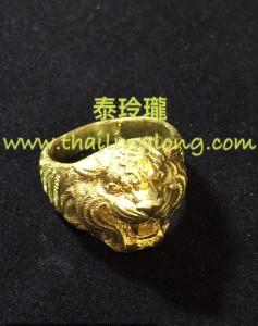 AC05 屈辦拍-- 龍婆什雁 2557 老虎頭 黃銅版 (戒指)
